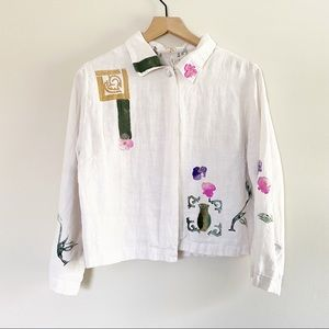 Play Alegre Hand Painted Linen Top Size Small